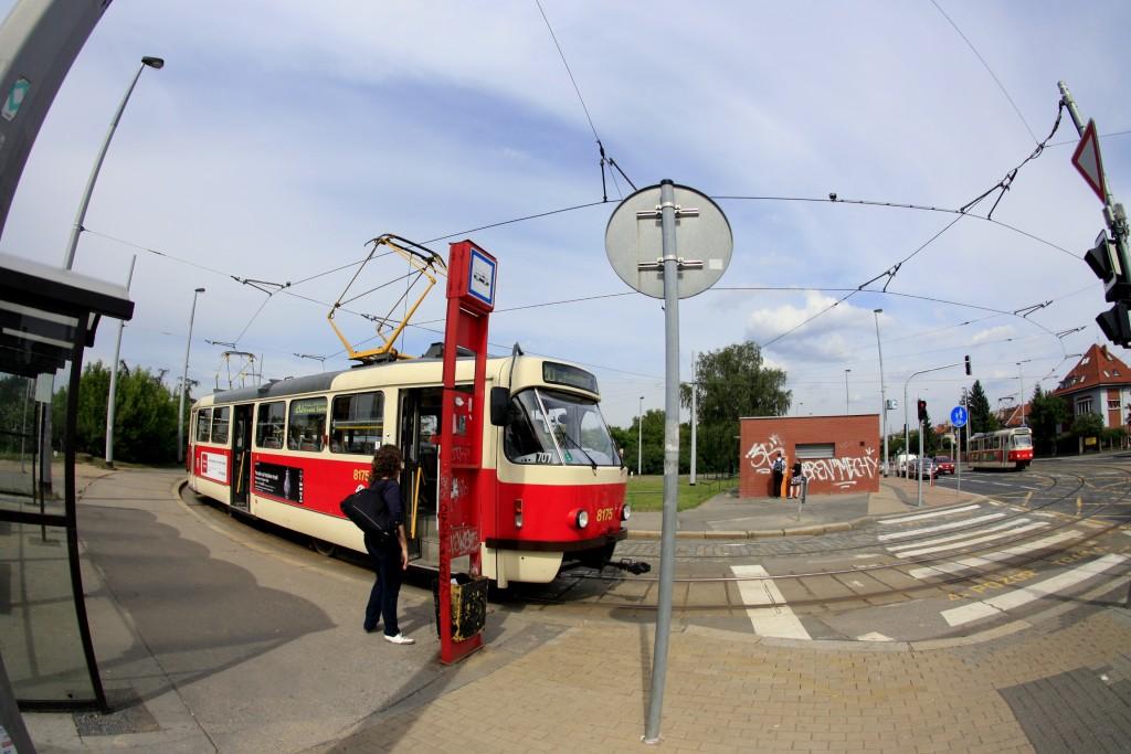 Остановка трамваев
